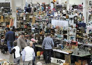 Shoppers at a Flea Market