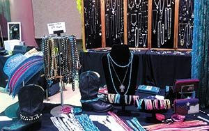 Fashion and Jewelry displayed at a Flea Market
