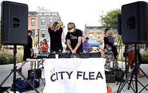 DJ booth at The City Flea