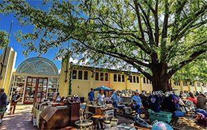 Exterior Raleigh Flea Market area