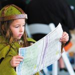 Little girl dressed in Celtic costume