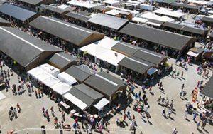 Birdseye view of the market
