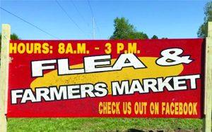 Ava's Flea Market sign