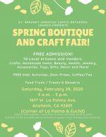 Anaheim Spring Boutique & Craft Fair