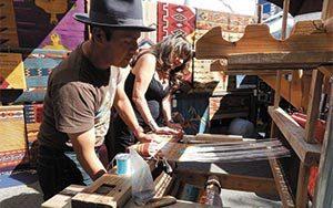 weaver's booth at Dessert Festival