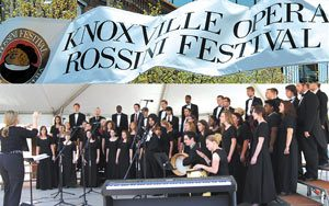 Knoxville Rossini Festival street banner
