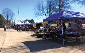 Outdoor area of Greenwood Market