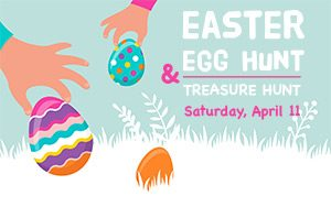 Graphi sign Eatser Egg Hunt