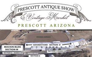 Prescott market vintage logo and rodeo fairgrounds